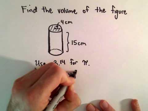 Volumen eines Zylinders berechnen