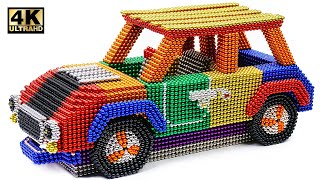 DIY - How To Make Color Mini Cooper From Magnetic Balls ( Satisfying ) | Magnet World 4K