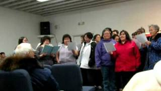 Wainwright and Barrow Ladies singing at Lorrie Bodfish's Atugaaq. Recorded by Cindy Ahmaogak.