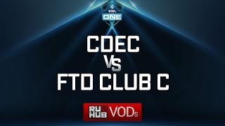 CDEC vs FTD Club C, ESL One Genting Quals, game 2 [Lex, 4ce]