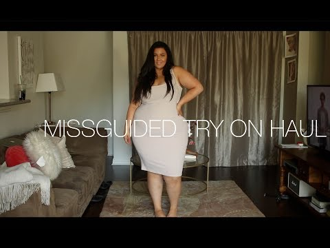 PLUS SIZE FASHION TRY ON HAUL | ALL BLACK EVERYTHING MISSGUIDED