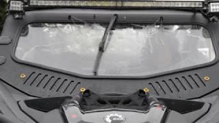 10. Can-am Maverick X3 XDS XRS XMR Windshield with wiper