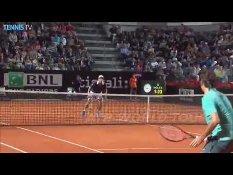 hot shot federer vs cuevas - roma 2015