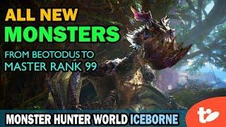 All New Monsters Through Master Rank 99 Unlocked   Monster Hunter World Iceborne