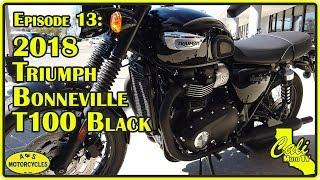 1. 2018 Triumph Bonneville T100 Black Review