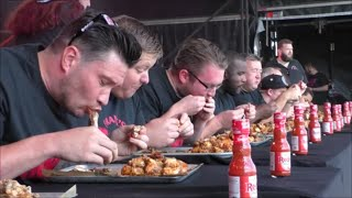 Video Grillstock London Frank's RedHot Wing Eating Contest Sun 6 Sept 2015 MP3, 3GP, MP4, WEBM, AVI, FLV Februari 2019