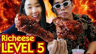 Video MUKBANG 6 BOX RICHEESE FIRE CHICKEN Lvl 5 MP3, 3GP, MP4, WEBM, AVI, FLV Desember 2017