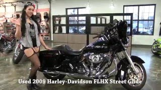 5. 2009 Black Harley Davidson Street Glide Vance and Hines Exhaust ✔✔