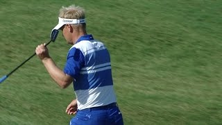 Soren Kjeldsen holes 40-foot uphill putt for birdie at THE PLAYERS by PGA TOUR