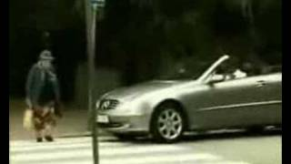 Leave me alone Very funny video of old lady crossing the road and a man in a car waiting honks at her and she hits his car with her bag and the airbag deploy...