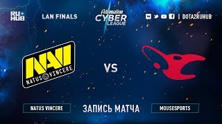Natus Vincere vs Mousesports, Adrenaline Cyber League, game 1 [Jam, Maelsorm]