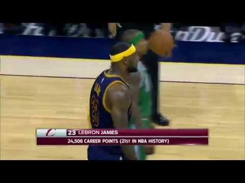 Video: Lebron James Moves into 21st on the NBA's All-Time Scoring List