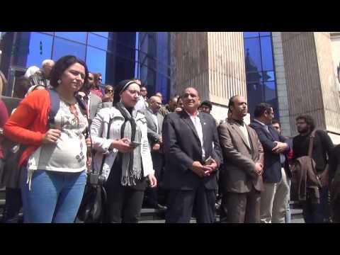مصر العربية | صحفيون على سلالم النقابة بعد حكم حبس قلاش: