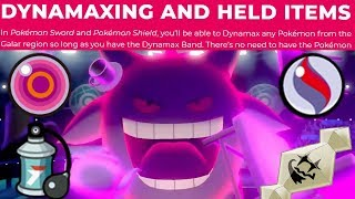 HELD ITEMS + DYNAMAX FINALLY ANSWERED! Pokemon Sword and Shield News by Verlisify