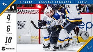 Vladimir Tarasenko is named the second star of the week by NHL