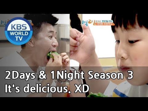 It's a fun lunchtime.Eating together makes the food tastier.[2Days & 1Night Season 3/2018.07.01]