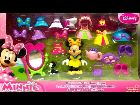 minnie - Adorable Play Doh Minnie Mouse Big Beautiful Bow-tique Playset Fisher Price Toys Minnie Doll Disney Junior Minnie Fashion Set Outfits Shoes Clothing Minnie M...