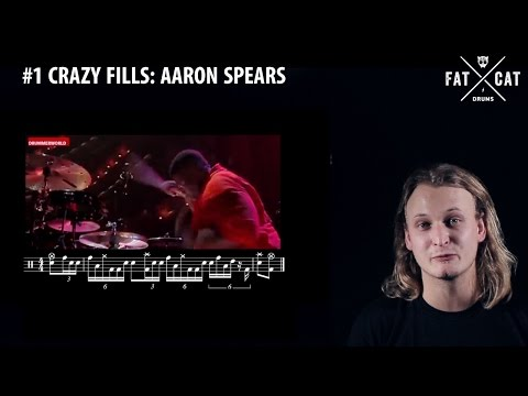 #1 Aaron Spears // Crazy Fills // Drum Lesson // FAT CAT DRUMS