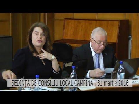 Ședință Consiliul Local Câmpina din 31 aprilie 2016