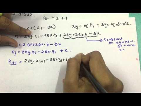 Bresenham Line Drawing Algorithm Easy : Bresenham s line drawing algorithm in computer graphics part