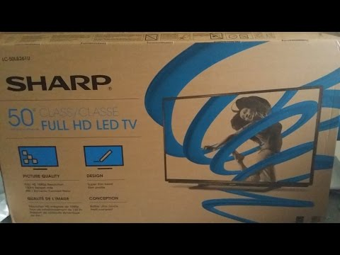 SHARP 50 INCH LC-50LB261U CLASS LED HDTV FULL HD TV BLACK FRIDAY UNBOXING 1080p 12/1/2014