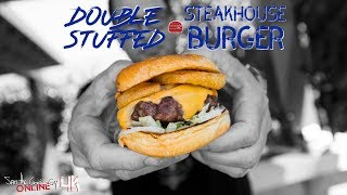 Epic Double Stuffed Steakhouse Burgers | SAM THE COOKING GUY 4K