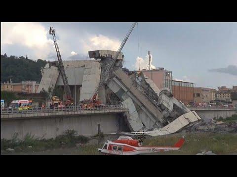 Ιταλία: Γέφυρα θανάτου στην Γένοβα