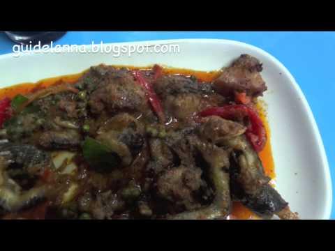 เขียดแลวผัดเผ็ดอร่อยโครตๆ แม่ฮ่องสอน Wild moutain frog ,Mae Hong Son Moutain Frog (видео)