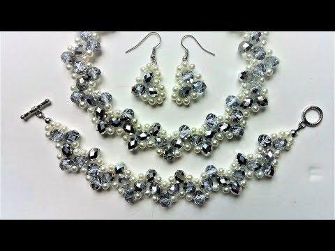 Handmade bridal jewelry set. DIY wedding jewelry inspiration