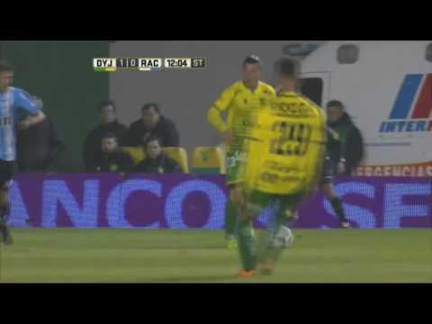 Gol de Martínez. Defensa 1 Racing 0. Fecha 15. Primera División 2016