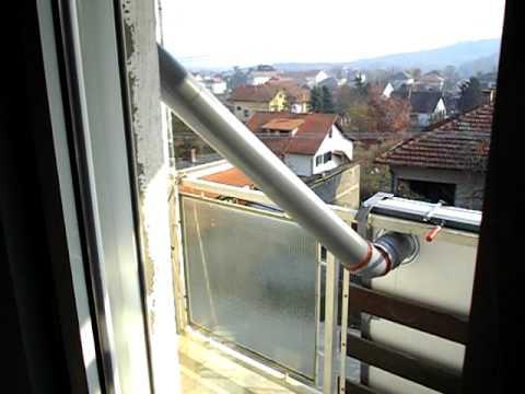 Solarni panel od limenki za besplatno grejanje instaliran na kucu-uradi sam