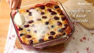 """Cómo hacer torta de cerezas """"clafoutis"""""""