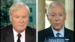 Chris Matthews Calls Orrin Hatch To The Carpet: If No Repubs Will Join, Why Should Dems Compromise W