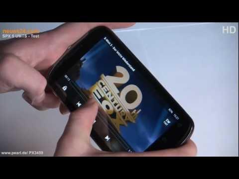 SPX-5 UMTS   Dual SIM   Smartphone Pearl Simvalley  Test