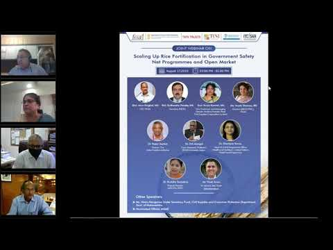 Joint webinar on scaling Up Rice fortification in Government Safety Net Programmes and open market.