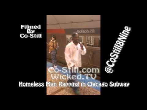 man - Co-Still found this guy in the Subway Rapping. Should we sign him to a Record Deal? Let us Know. His Name is SoLow RedLine Follow us @WickedEchicago.