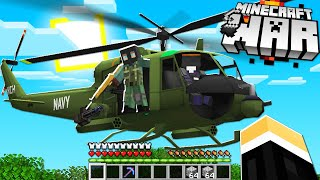 surprise enemy helicopter attack on our Minecraft Base.. (Minecraft War #17)