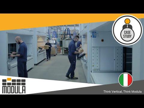 14 Modula Lift per raggiungere la massima densità di stoccaggio nella fabbrica di filtri FBN [Italy]