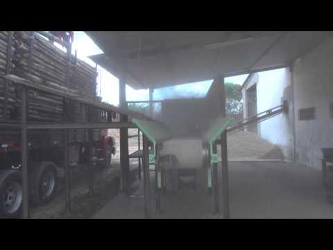 Picador de Cavaco PTL 200 x 500 picando Toras de Eucalipto