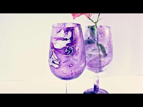 crea un fantastico bicchiere marmorizzato - fai da te creazioni