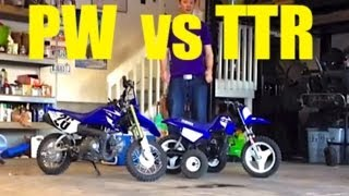 6. Yamaha TTR-50 and Yamaha PW-50 Comparison.