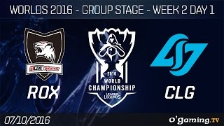 ROX vs CLG - World Championship 2016 - Group Stage Week 2 Day 1