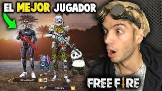 ASÍ JUEGA EL MEJOR JUGADOR DE FREE FIRE *es un hacker*