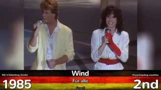 Video Germany in Eurovision | ALL Songs 2015 - 1956 | ALLE deutschen Beiträge/Lieder beim ESC MP3, 3GP, MP4, WEBM, AVI, FLV Juli 2018