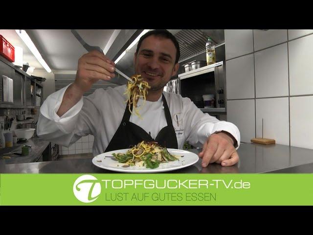 Tagliatelle mit Bündnerfleisch Trüffel und Parmesan