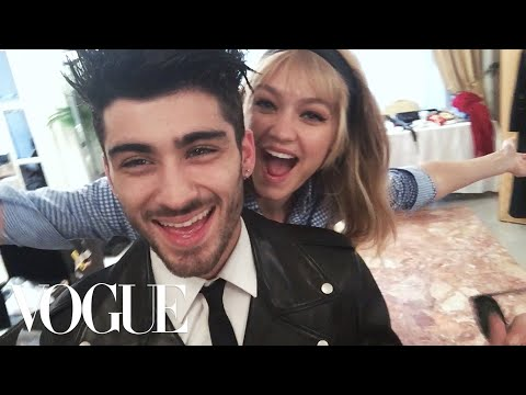 Behind the Scenes With Zayn and Gigi in Italy