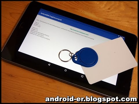 Android NFC example, to read tag info of RFID key and card