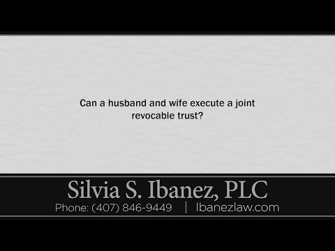 Can a husband and wife execute a joint revocable trust?