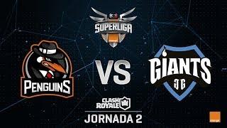 SUPERLIGA ORANGE - PENGUINS VS GIANTS - Jornada 2 - #SuperligaOrangeCR2