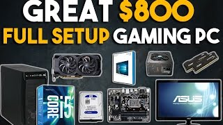 Great $800 Full Setup Gaming PC Build 1080p Gaming PC January 2017 full download video download mp3 download music download